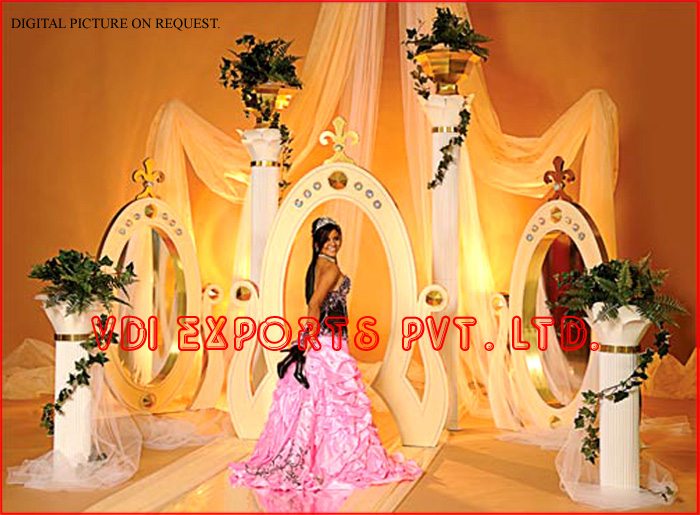 Wedding decoration theme wedding mandap manufacturers royal designer fiber entrance theme manufacturers exporters of vivaah wedding decoration junglespirit Gallery